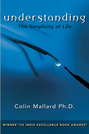 Book Cover - water droplet on blue background - By Colin Mallard
